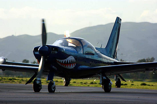 Flight training for pilots in the Marchetti SF-260