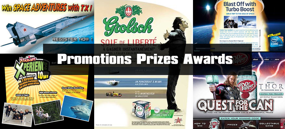 Contests, Promotions, Prizes & Awards