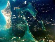 NASA photo shows Tongue of the Ocean dive area in the Bahamas