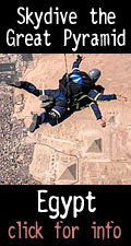Skydive over the Great Pyramid at Gize, Egypt 2019