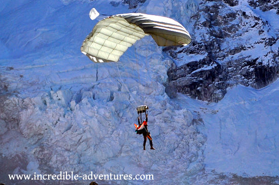 Skydive Everest 2013. Tandem parachute jump at the top of the world.