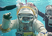 Cosmonaut training in the Hydrolab at Star City, Russia