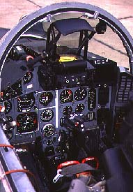 the cockpit of a MiG-29