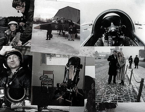 Client photos, the Kremlin sightseeing, practice MiG ejection seat