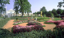 Petrodvorets (Peterhoff) known for extensive parks and gardens