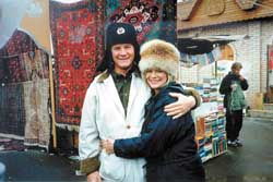 Rex and Sharon Rankin enjoy a respite from flying Russian jet fighter planes for some shopping in downtown Moscow.