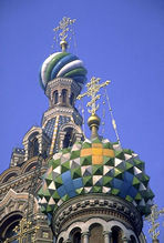 Magnificant Church of the Savior on the Blood, modeled after St. Basil's in Moscow