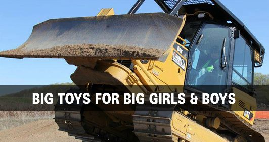Drive heavy equipment including  bulldozers, excavators and skid steers