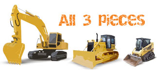 Drvie any two: Excavator, or Bulldozer or Skid Steer