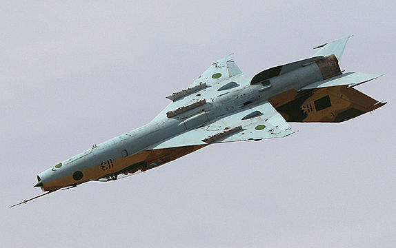Inverted flight in the MiG-21 UM Mongol B Russian fighter jet