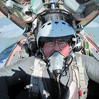 Australian Tony flew the MiG-29 to the edge of space. He wore a pressure suit for the climb to nearly 70,000 feet.