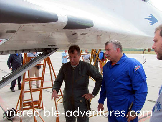 Doug flew a MiG-29 in Russia with Incredible Adventures and pilot Yuri Polyakov.