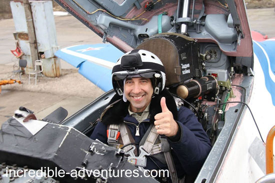 Anthony flew a MiG-29 at SOKOL Airbase, Russia with Incredible Adventures.