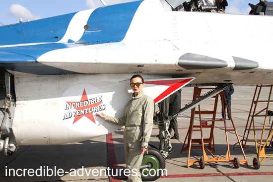 Li flew a MiG-29 at SOKOL Airbase, Russia with Incredible Adventures.