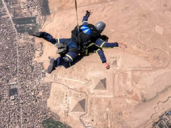 Skydive over the Great Pyramid at Giza, Egypt 2019