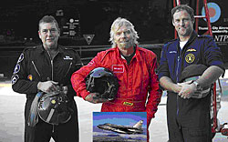 Richard Branson flies the English Electric Lightning at Thundercity South Africa