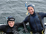 Marni & Greg Diving off the Farallon Islands