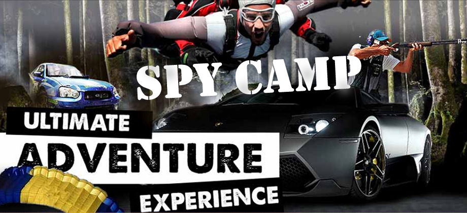 Spy Camp the Ultimate Adventure Experience. Race a car, drive a Lamborghini, shoots lots of guns, skydive