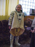 Moving around in a space suit is hard work!