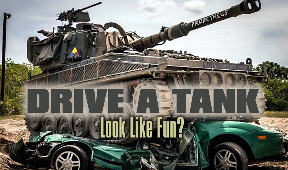 Drive a tank & crush a car