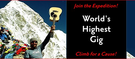 Join The World's Highest Gig Charity Expedition in Nepal in October of 2011