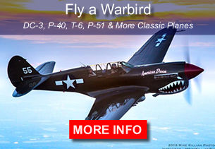 Fly a classic warbird, bi-plane or DC-3
